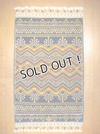 トルコ手織りウール絨毯 玄関マットサイズ AC-136