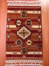トルコ手織りウール絨毯 玄関マットサイズ  AC-142