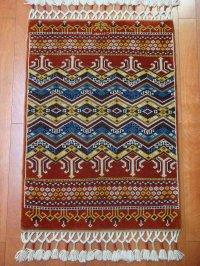 トルコ手織りウール絨毯 玄関マットサイズ AC-143