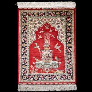 画像1: ヘレケシルク絨毯