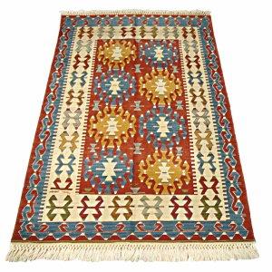 画像1: トルコ製手織りニューキリム [0480]