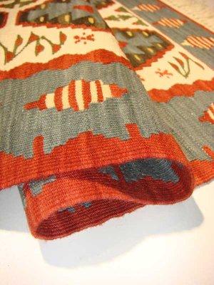 画像4: トルコ手織りニューキリム 玄関マットサイズ [AK-1106]