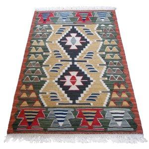 画像1: トルコ手織りニューキリム 玄関マットサイズ [AK-1248]