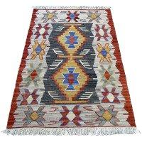 トルコ手織りニューキリム 玄関マットサイズ [AK-1259]