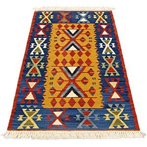画像1: トルコ手織りニューキリム 玄関マットサイズ [AK-0987]