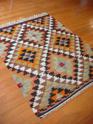 画像4: トルコ手織りオールドキリム[AK-0035]