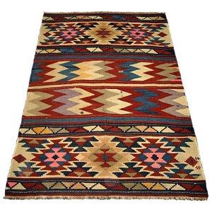画像1: トルコ手織りオールドキリム[AK-0077]