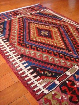 画像4: トルコ手織りオールドキリム[AK-0093]