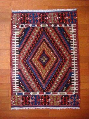 画像5: トルコ手織りオールドキリム[AK-0093]