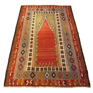 画像1: トルコ手織りオールドキリム[AK-1130]