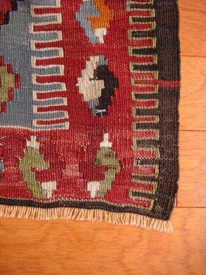 画像2: トルコ手織りオールドキリム[AK-1130]