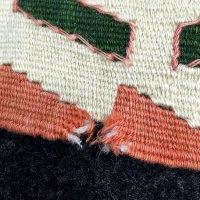 手織りキリムの修理
