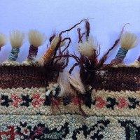 手織りウール絨毯の穴修理
