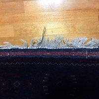 手織りウール絨毯の房修理