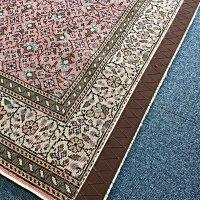 手織りウール絨毯のベルト取付