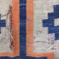 手織りウールキリムの切れ修理