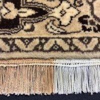 手織り絨毯の房のシミ取り