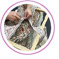 手織り絨毯修理の例
